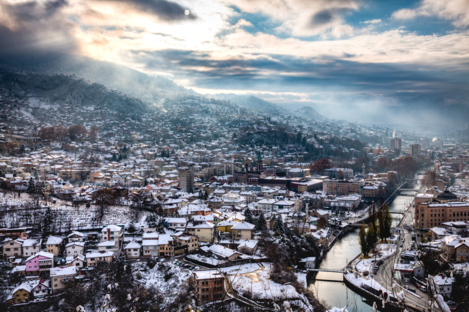 Sarajevo winter landscape