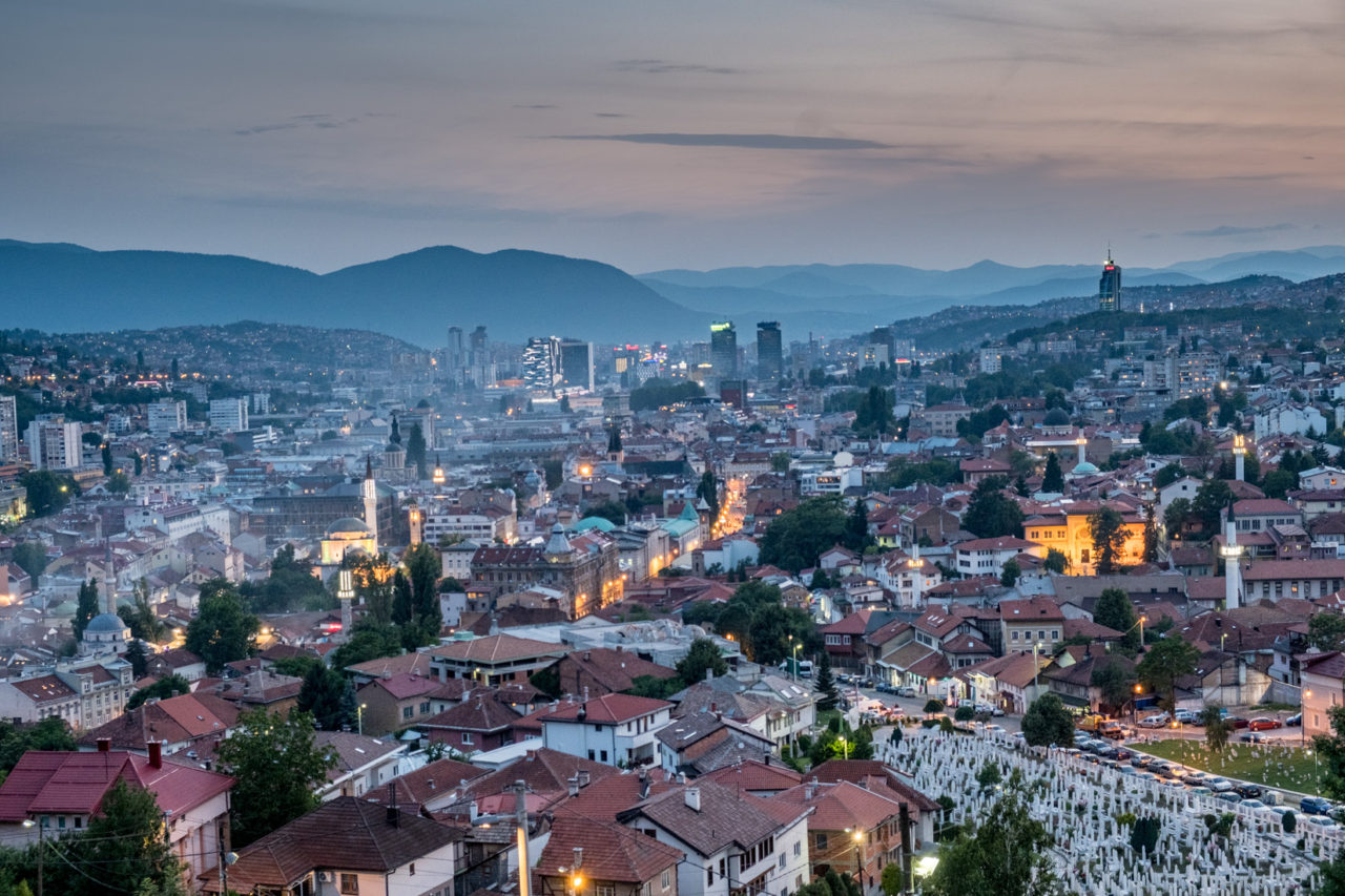 Sarajevo Landscape – June 2018. Photo by Chris Leslie